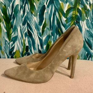 Charles by Charles David Tan suede pointy pumps